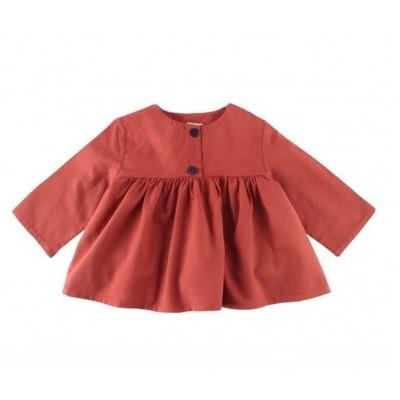 Button Shirt - Brick Red