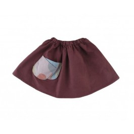 Pocket Skirt Maroon