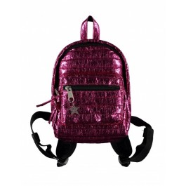Pink Metallic Padded Back Pack