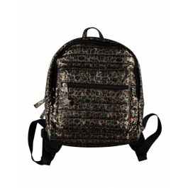 Leopard Padded Back Pack - Dark Gold
