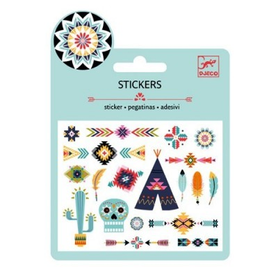 Puffy Stickers Indians