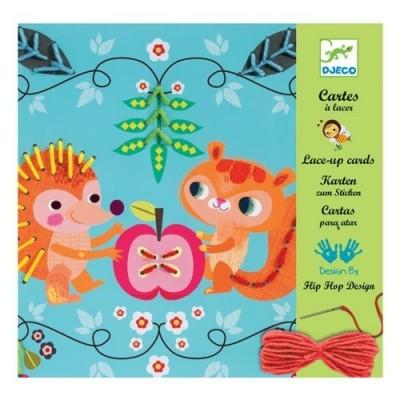 Ράβω - Οι μικροί φίλοι. Lace up cards