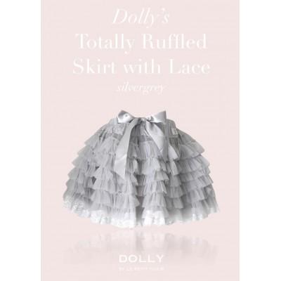 Ruffled Petit Skirt Silver Grey