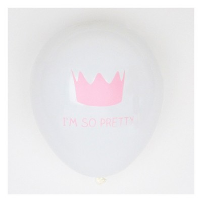 Set of 5 Printed Balloons - Princess Crown
