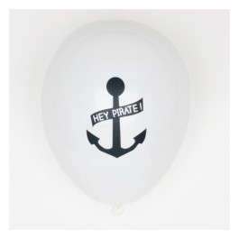 Set of 5 Printed Balloons - Pirate