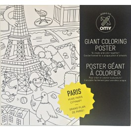 Coloring Poster Paris
