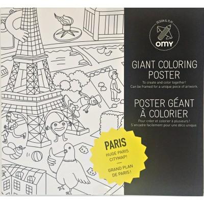 Coloring Poster Paris