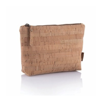 Large Zip Pouch - Cork Fabric