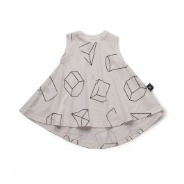 Geometric Tank Dress 360 - White