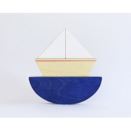 Wooden Little Puzzle Toy Boat