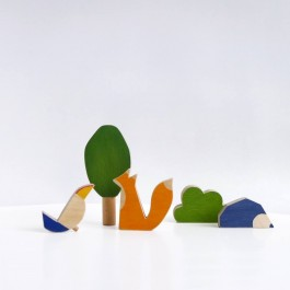 Wooden Animals Toy Set - Forest