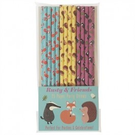 Rusty & Friends Paper Straws