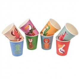 Paper Cups Colorful Creatures