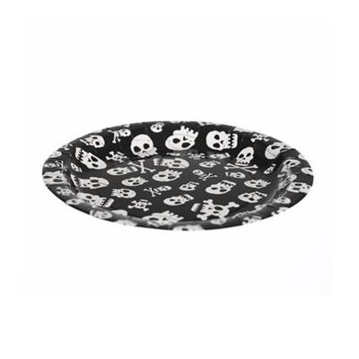 Skull paper plates