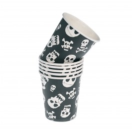 Pack of 6 Skull Paper Cups