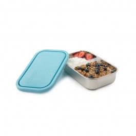 Medium Rectangle Container with divider - Sky