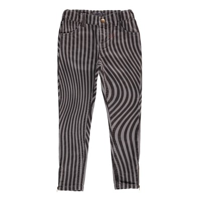 Two tone Slim Fit Trousers - Grey