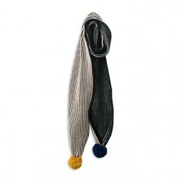 Bicolour green scarf