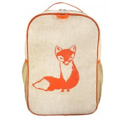 School Backpack- Orange Fox