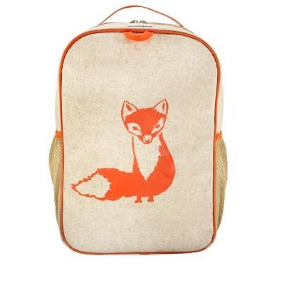 School Backpack- Orange Fox