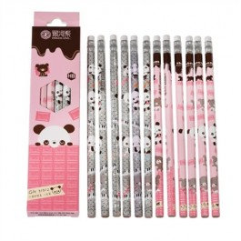 Pack of 12 pencils - Panda Pink
