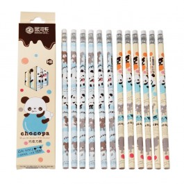 Pack of 12 pencils - Choco Panda