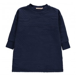 Texture Dress Navy Blue - Jumping Rabbit
