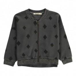 Sweatshirt Diamond Sky- Loose Zip up