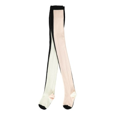 Vertical Multicolour Tights - PInk