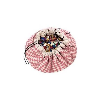 Τσάντα αποθήκευσης παιχνιδιών 2 σε 1- Pink Diamonds