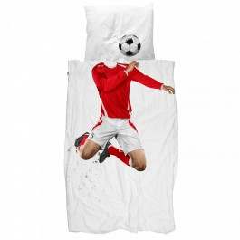 Duvet Cover Set - Soccer Champ Red