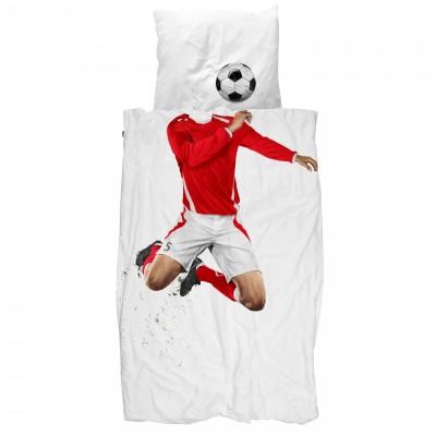 Σετ παπλωματοθήκης Ποδοσφαιριστής - Κόκκινο