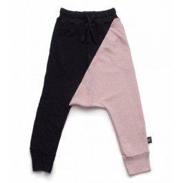 1/2 Baggy Pants Black and Powder Pink