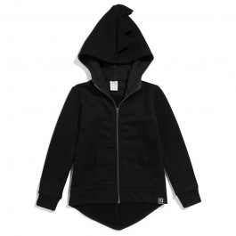 Hoodie Dino with Fleece - Black