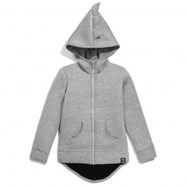Hoodie Dino with Fleece - Grey