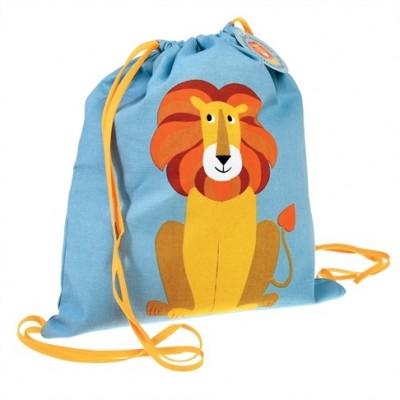 Υφασμάτινη τσάντα με κορδόνι - Λιοντάρι