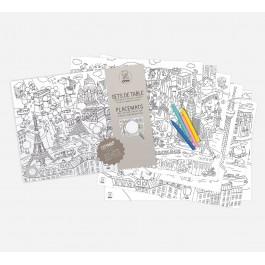 Paper coloring placemats- Citymap
