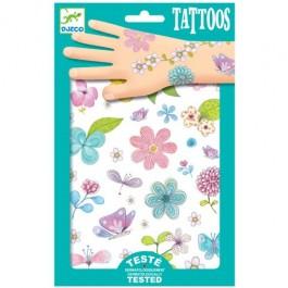 Παιδικά τατουάζ - Λουλούδια και πεταλούδες με glitter