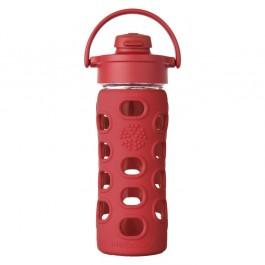 Red Glass Bottle with Flip Top Cap - 350ml