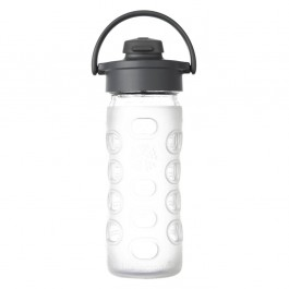Clear Glass Bottle with Flip Top Cap - 350ml