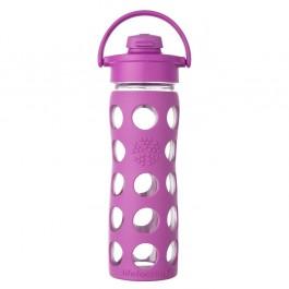 Glass Bottle with Flip Top Cap 475 ml - Huckleberry