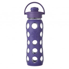 Glass Bottle with Flip Top Cap 475 ml - Royal Purple