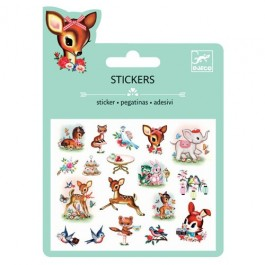 Puffy Stickers Vintage Animals