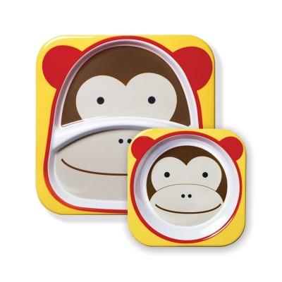 Σετ πιάτο και μπωλ φαγητού Skip Hop - Μαϊμου