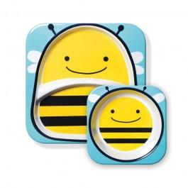 Σετ πιάτο και μπωλ φαγητού Skip Hop - Μέλισσα