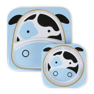 Σετ πιάτο και μπωλ φαγητού Skip Hop - Αγελάδα