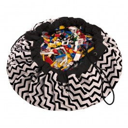 Bag and Playmat - Zig Zag Black