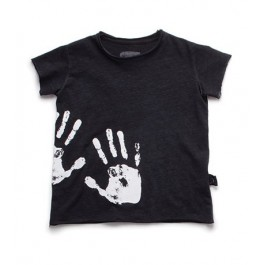 Hand Print T-Shirt - Μαύρο