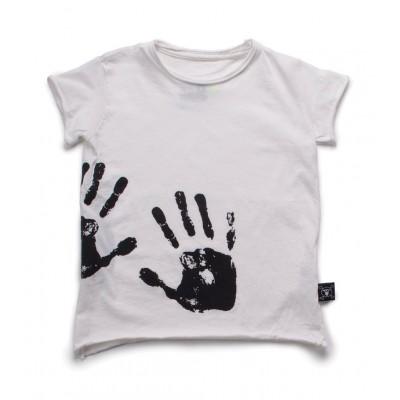Hand Print T-Shirt - Λευκό