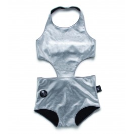 Cutout Swimsuit - Silver